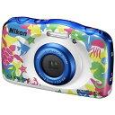 【送料無料】 ニコン 防水コンパクトデジタルカメラ COOLPIX(クールピクス) W100(マリン)