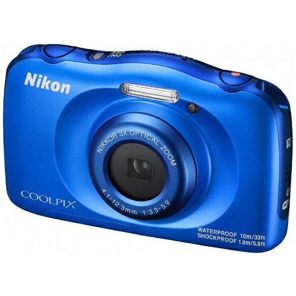 【送料無料】 ニコン W100 コンパクトデジタルカメラ COOLPIX(クールピクス) ブルー [防水+防塵+耐衝撃]