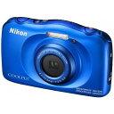【送料無料】 ニコン 防水コンパクトデジタルカメラ COOLPIX(クールピクス) W100(ブルー)