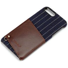 PGA iPhone 7 Plus用 カードポケット付き ハードケース ネイビー PG-16LCA02NV