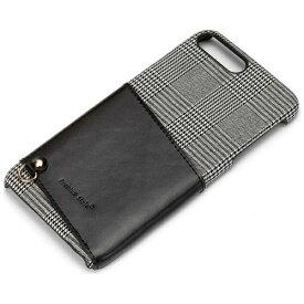 PGA iPhone 7 Plus用 カードポケット付き ハードケース グレー PG-16LCA03GY