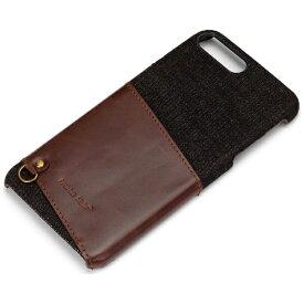 PGA iPhone 7 Plus用 カードポケット付き ハードケース ブラック PG-16LCA04BK