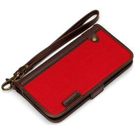 PGA iPhone 7用 手帳型 フリップカバー ナイロン レッド PG-16MFP10RD
