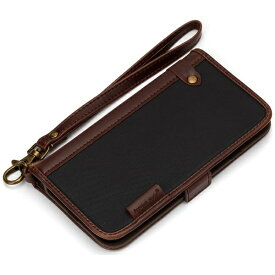 PGA iPhone 7用 手帳型 フリップカバー ナイロン ブラック PG-16MFP11BK