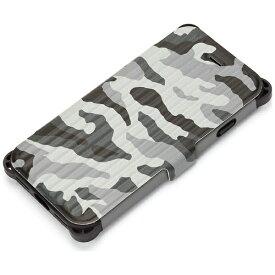 PGA iPhone 7用 手帳型 タフフリップカバー 迷彩 ミリタリーグレー PG-16MFP33GY
