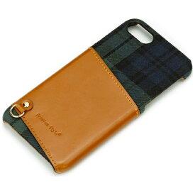 PGA iPhone 7用 カードポケット付き ハードケース グリーン PG-16MCA01GR