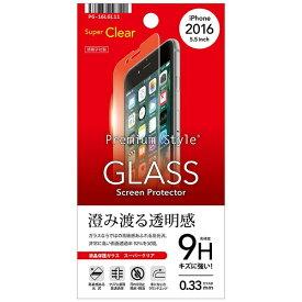 PGA iPhone 7 Plus用 液晶保護ガラス スーパークリア 0.33mm PG-16LGL11