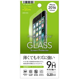 PGA iPhone 7 Plus用 液晶保護ガラス スーパークリア 0.2mm PG-16LGL12