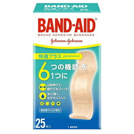 ジョンソン&ジョンソン Johnson&Johnson BAND-AID(バンドエイド) 快適プラス スタンダードサイズ 25枚 〔絆創膏〕