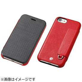 DEFF ディーフ iPhone 7 Plus用 手帳型レザーケース RONDA Carbon &Spanish Leather Case カーボンフリップタイプ レッド DCS-IP7PRAFCLRD