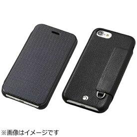 DEFF ディーフ iPhone 7 Plus用 手帳型レザーケース RONDA Carbon &Spanish Leather Case カーボンフリップタイプ ブラック DCS-IP7PRAFCLBK
