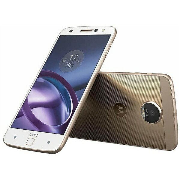 【送料無料】 モトローラ Moto Z 64GBホワイト「AP3786AD1J4」 Snapdragon 820 5.5型・メモリ/ストレージ:4GB/64GB nano×2 DSDS対応 ドコモ/YmobileSIM対応 SIMフリースマートフォン[AP3786AD1J4][s-ksale]