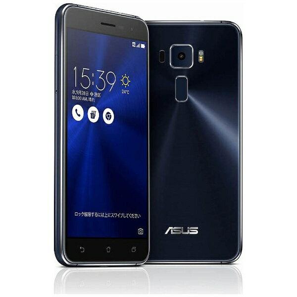 【送料無料】 ASUS エイスース ZenFone3 Series サファイアブラック 「ZE520KL-BK32S3」 Snapdragon 625 5.2型・メモリ/ストレージ:3GB/32GB microSIM×1、nano×1 ドコモ/au/ソフトバック/YmobileSIM対応 SIMフリースマートフォン[ZE520KLBK32S3]