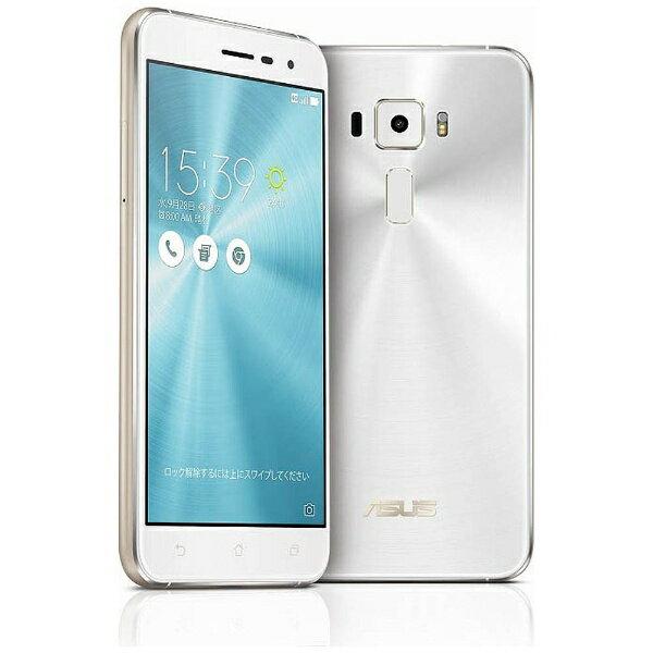 【送料無料】 ASUS ZenFone3 Series パールホワイト 「ZE520KL-WH32S3」 Android 6.0.1・5.2型・メモリ/ストレージ:3GB/32GB microSIM×1、nano×1 SIMフリースマートフォン