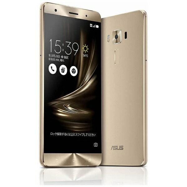 【送料無料】 ASUS ZenFone3 Deluxe Series ゴールド「ZS570KL-GD256S6」 Snapdragon 821 5.7型・メモリ/ストレージ:6GB/256GB microSIM×1、nano×1 SIMフリースマートフォン[ZS570KLGD256S6]