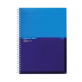 コクヨ KOKUYO [ノート] ツインリングノート カラータグ Bi-COLOR (普通横罫・B5・90枚) ブルー CTス-C20B