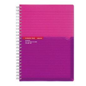コクヨ KOKUYO [ノート] ツインリングノート カラータグ Bi-COLOR (普通横罫・A5・90枚) ピンク CTス-C30P