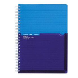 コクヨ KOKUYO [ノート] ツインリングノート カラータグ Bi-COLOR (普通横罫・A5・90枚) ブルー CTス-C30B
