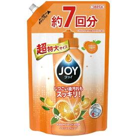 P&G ピーアンドジー JOY(ジョイ)コンパクトバレンシアオレンジの香りつめかえ用超特大1065mL〔食器用洗剤〕