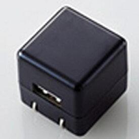 エレコム ELECOM オーディオ用AC充電器 CUBE/1A出力/USB1ポート(ブラック) AVA-ACUAN007BK