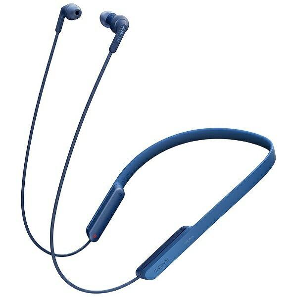 【送料無料】 ソニー SONY ブルートゥースイヤホン カナル型(ブルー) MDR-XB70BTLZ[MDRXB70BTLZ]