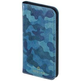 サンクレスト SUNCREST iPhone 7用 手帳型 BZGLAM カモフラージュダイアリーカバー ブルー iP7-BZ02