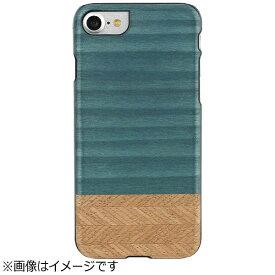 ROA ロア iPhone 7用 天然木ケース Denim ブラックフレーム Man&Wood I8080i7