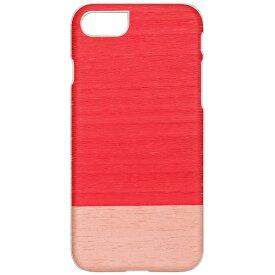 ROA ロア iPhone 7用 天然木ケース Little peach ホワイトフレーム Man&Wood I8075i7