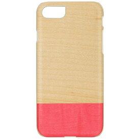 ROA ロア iPhone 7用 天然木ケース Miss match ホワイトフレーム Man&Wood I8074i7
