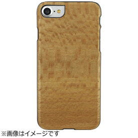 ROA ロア iPhone 7用 天然木ケース Platano ブラックフレーム Man&Wood I8072i7
