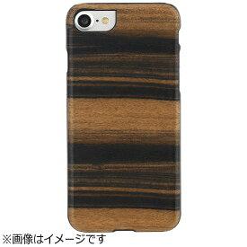 ROA ロア iPhone 7用 天然木ケース Ebony ブラックフレーム Man&Wood I8068i7