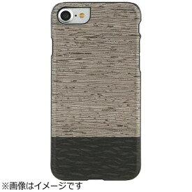 ROA ロア iPhone 7用 天然木ケース Lattis ブラックフレーム Man&Wood I8065i7
