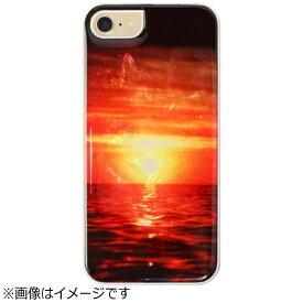 ROA ロア iPhone 7用 天然貝ケース 風景シリーズ Sunset ホワイトフレーム ikins I8062i7