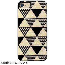 ROA ロア iPhone 7用 天然貝ケース 幾何学デザインシリーズ Pyramid ブラックフレーム ikins I8060i7