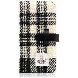 ROA ロア iPhone 7用 手帳型 Harris Tweed Diary ホワイト×ブラック SLG Design SD8122i7