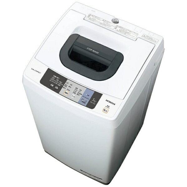 【標準設置費込み】 日立 全自動洗濯機 (洗濯5.0kg) NW-50A-W ピュアホワイト
