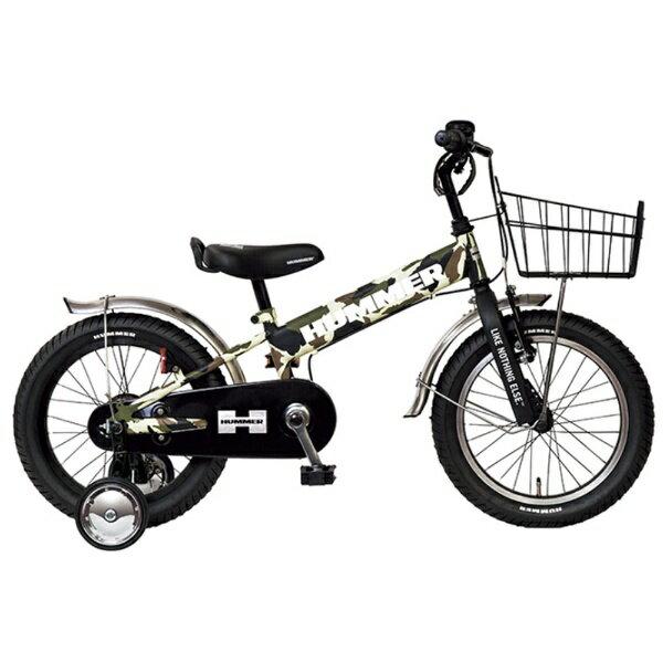 ハマー 16型 幼児用自転車 HUMMER KIDS TANK3.0-SE(カモフラグリーン/シングルシフト) 13377-69【組立商品につき返品不可】 【代金引換配送不可】