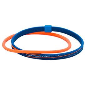 ファイテン PHITEN RAKUWAアンクレットS スラッシュラインラメタイプ(ネイビー×オレンジ/21cm)