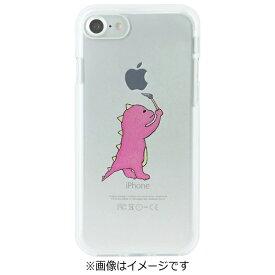 ROA ロア iPhone 7用 ソフトクリアケース お絵かきザウルス ピンク Dparks DS8277i7