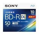 ソニー SONY 録画用BD-R ホワイト 10BNR2VJPS6 [10枚 /50GB /インクジェットプリンター対応][10BNR2VJPS6]【wtcomo】