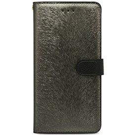 ROA ロア iPhone 7 Plus用 手帳型 CALF Diary メタルブラック HANSMARE HAN8267i7P