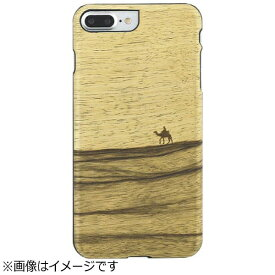 ROA ロア iPhone 7 Plus用 天然木ケース Terra  ブラックフレーム Man&Wood I8084i7P