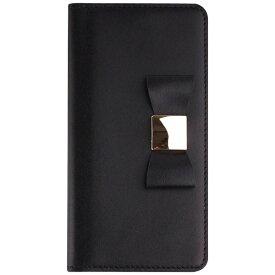 ROA ロア iPhone 7 Plus用 手帳型 Ribbon Classic Diary ブラック LAYBLOCK LB8055i7P