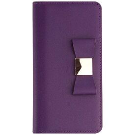 ROA ロア iPhone 7 Plus用 手帳型 Ribbon Classic Diary パープル LAYBLOCK LB8054i7P