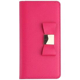 ROA ロア iPhone 7 Plus用 手帳型 Ribbon Classic Diary ホットピンク LAYBLOCK LB8053i7P