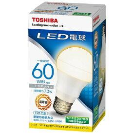 東芝 TOSHIBA LDA7L-H/60W LED電球 [E26 /電球色 /60W相当 /一般電球形 /下方向タイプ][LDA7LH60W]