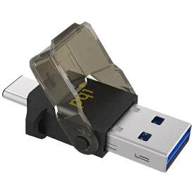 PQIジャパン UC312VABK microSD専用カードリーダー ブラック [タブレット対応][UC312VABK]
