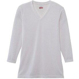 ミズノ mizuno メンズ ブレスサーモエブリプラス・ Vネック長袖シャツ(Lサイズ/オフホワイト) C2JA664102