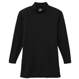 ミズノ mizuno メンズ ブレスサーモ エブリプラス ハイネック 長袖シャツ(Lサイズ/ブラック)C2JA664209