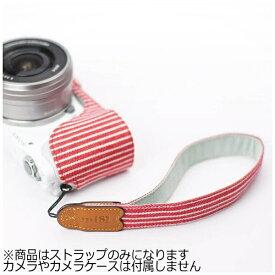 mi81 エムアイ81 ミラーレス&コンパクトカメラ用リストストラップ MH01RS レッドストライプ